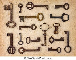 antikvitet, olik, stämm, papper,  retro, bakgrund