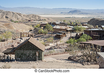 View of Calico, California, San Bernardino County - View of...