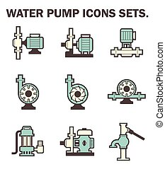 pump icon - Water pump icons sets