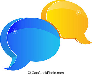 Speech or chat icon for web design