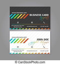 Corporate business card template. The multiple layers are...