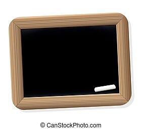Chalkboard School Vintage - Chalkboard tablet - blank slate...