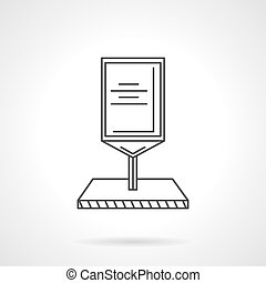 Line vector icon for roadside billboard - Flat line design...