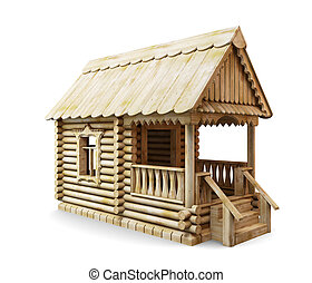 Wooden rural house