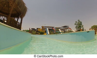 Pool at a water park , Egypt