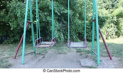 empty swing in park