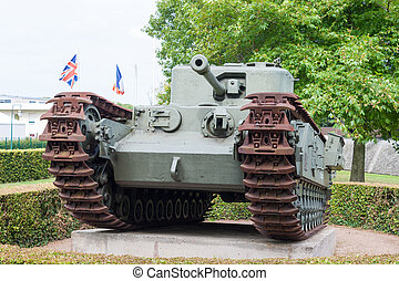 tank from the Second World War in Normandy