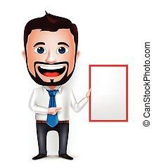3D Businessman Cartoon Character