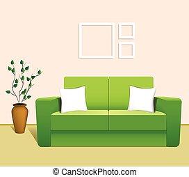 Sofa in the Interior