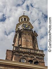 Wijnhuistoren in the center of Zutphen, Holland
