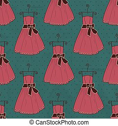 Seamless pattern dress
