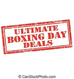 Ultimate Boxing Day Deals - Grunge rubber stamp with text...