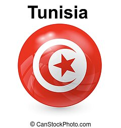 Tunisia flag - State flag of Tunisia