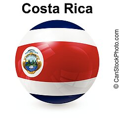 costa rica ball flag - costa rica official flag, button ball...