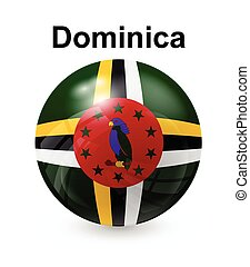 dominica state flag - dominica official state button ball...