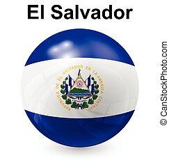 el salvador ball flag - el salvador official flag, button...
