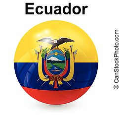 ecuador ball flag - ecuador official flag, button ball