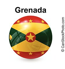 grenada state flag - grenada official state button ball flag...
