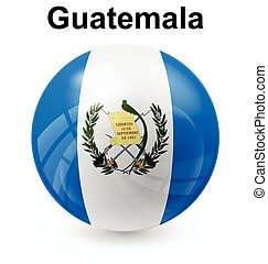 guatemala ball flag - guatemala official flag, button ball