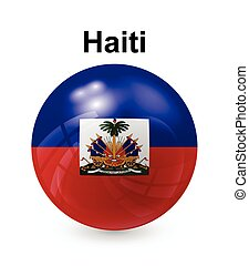 haiti state flag - haiti official state button ball flag