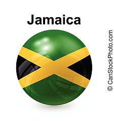 jamaica state flag - jamaica official state button ball flag...
