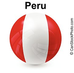 peru ball flag - peru official flag, button ball