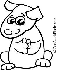 puppy cartoon coloring book