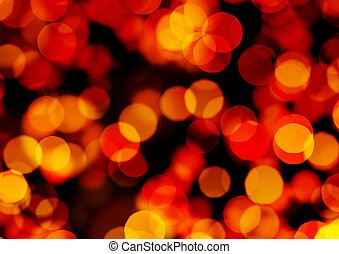 Abstract Orange ,Red Lights Focus Background