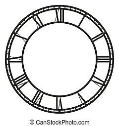 Vector vintage clock on white Illustration clip art