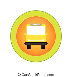 School Supplies - Isolated round label with school supplies....