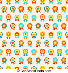 Reward seamless pattern of medal Endless texture can be used...