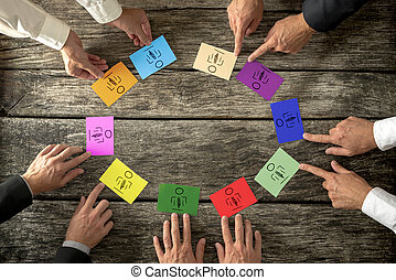 Successful business leaders creating diverse and competent...