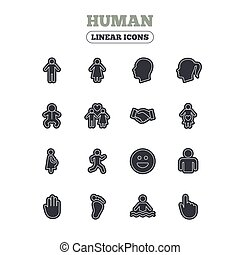 Human icons Toddler and pregnant woman - Human icons Male...