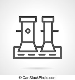 Line vector icon for pier bollard - Flat line design vector...