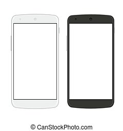 Vector modern  smartphones isolated on white