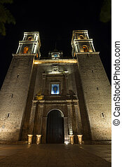 Valladolid cathedral at night - Beautifully illuminated...