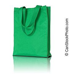green shopping fabric bag