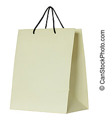 paper shopping bag isolated on white with clipping path
