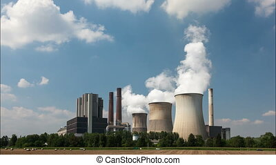 Nuclear power plant time lapse video