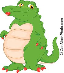 Basic RGB - vector illustration of cute crocodile cartoon