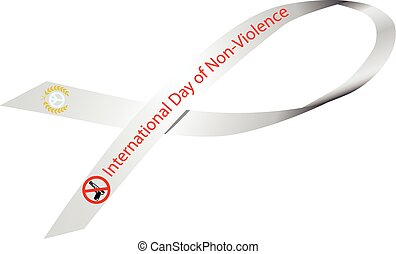 Ribbon International Day of Non-Violence - White Ribbon to...