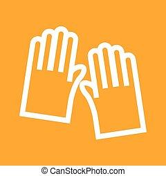 Gardening Gloves - Gloves, garden, gardening icon vector...