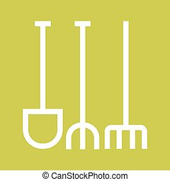 Gardening Tools - Garden, fork, maintenance icon vector...