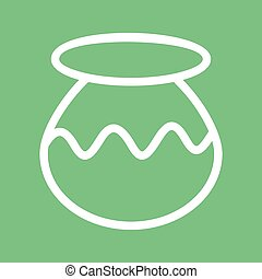 Plant Pot - Pot, plant, nature icon vector image.Can also be...