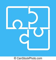 Puzzle Game - Puzzle, cube, game icon vector image.Can also...