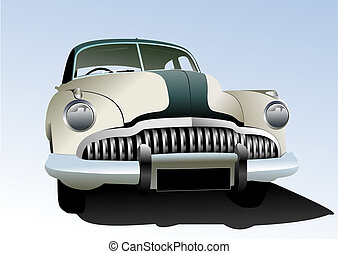 Old vintage car Colored Vector illustration for designers