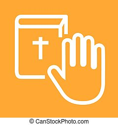 Oath, pledge, honesty icon vector image.Can also be used for...