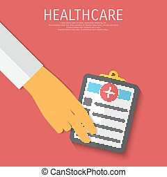Vector healthcare medical flat background. Eps 10.