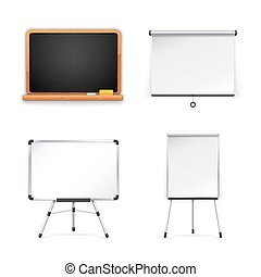 Set of Boards for Presentation Isolated on white background...