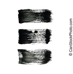 Abstract watercolor paintbrush lines for your project - High...